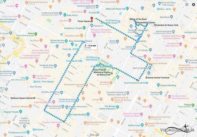 Mapa recorrido dia 1