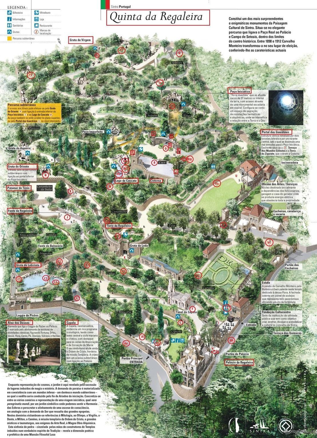 Plano Quinta Da Regaleira
